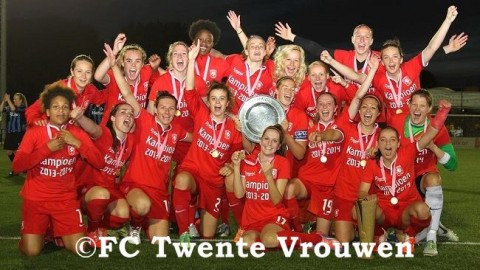 FC Twente are Champions of the Women's BeNe League 2014