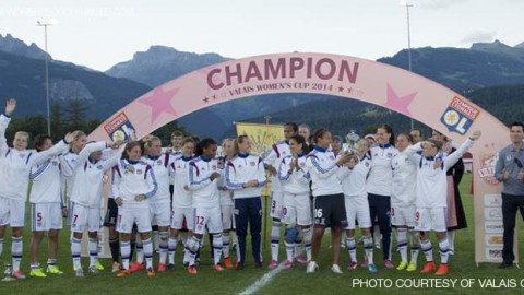 Olympique Lyonnais win the Valais Women's Cup 2014!