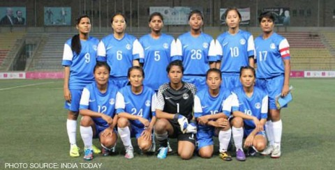 India women's football team thrash Maldives 15-0 at the Asian Games 2014