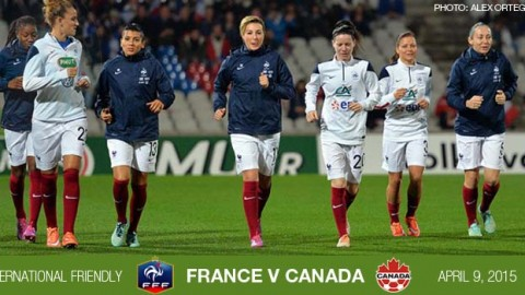 Full-time: France 1-0 Canada – International Friendly (9 April 2015)