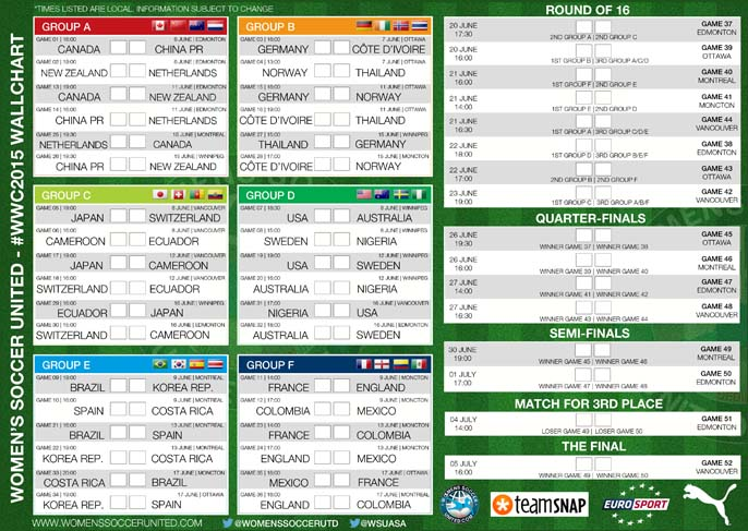 It is a graphic of Printable World Cup Schedule regarding full