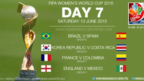 Day Seven at the FIFA Women's World Cup 2015 – Group Stage (13 June)
