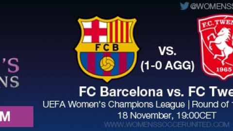 LIVE STREAM: FC Barcelona vs. FC Twente  | UEFA Women's Champions League Round of 16 (2nd leg)