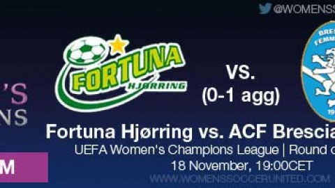 LIVE STREAM: Fortuna Hjørring vs. ACF Brescia Femminile | UEFA Women's Champions League, Round of 16, Second leg