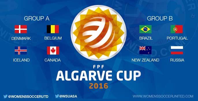 Algarve Cup 2016 groups