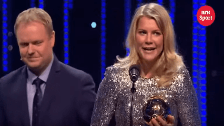 Ada Hegerberg wins the Norwegian Gold ball 2015 award