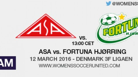 Live stream: ASA vs. Fortuna Hjørring | Denmark 3F Ligaen – 12 March 2016