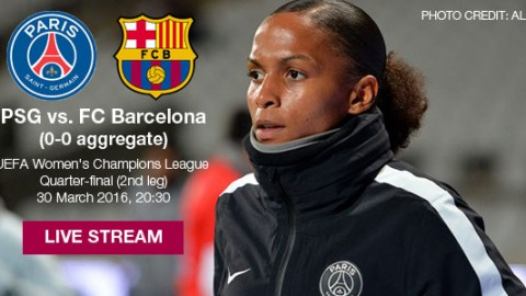 Live stream: PSG vs. FC Barcelona | UEFA Women's Champions League Quarter-final (2nd leg)