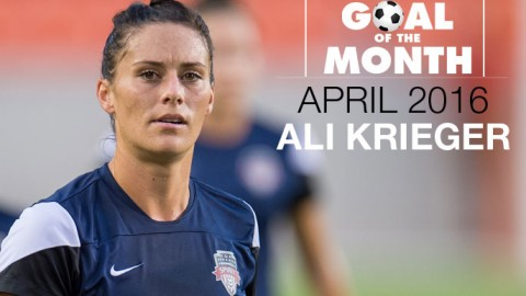 Ali Krieger wins WSU Goal of the Month – April 2016