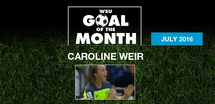 Caroline Weir wins WSU Goal of the Month - July 2016