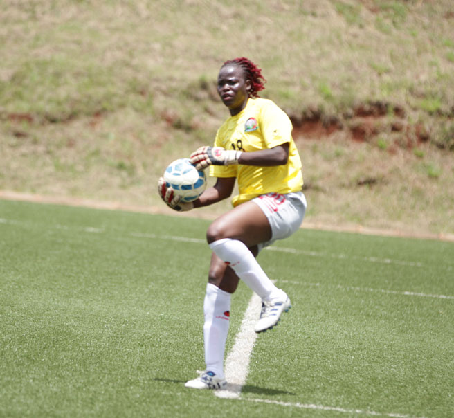 Harambee Starlets shot stopper Vivian Akinyi thrilled with clean sheet