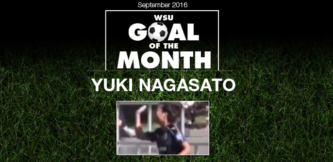 Yuki Nagasato wins WSU Goal of the Month - Yuki Nagasato wins WSU Goal of the Month - September 2016September 2016
