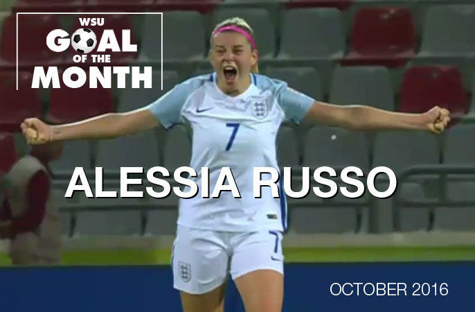 Alessia Russo Wins October WSU Goal of the month 2016