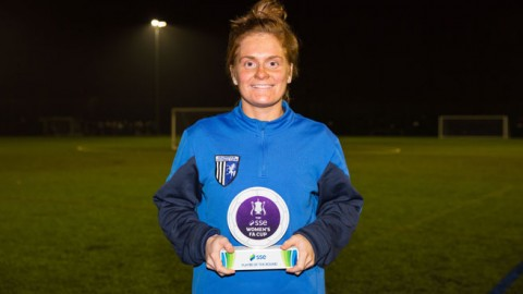 SSE Women's FA Cup player of the first round – Gillingham Ladies' Fliss Gibbons