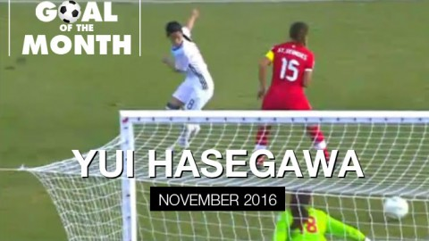 Yui Hasegawa wins WSU Goal of the Month – November 2016