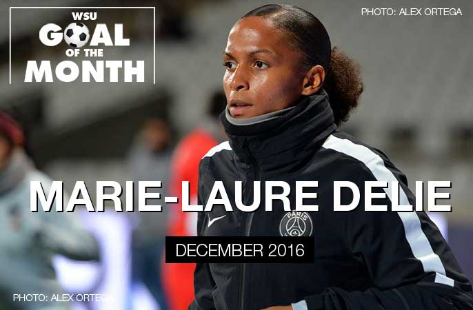 Marie-Laure Delie wins WSU Goal of the Month - December 2016