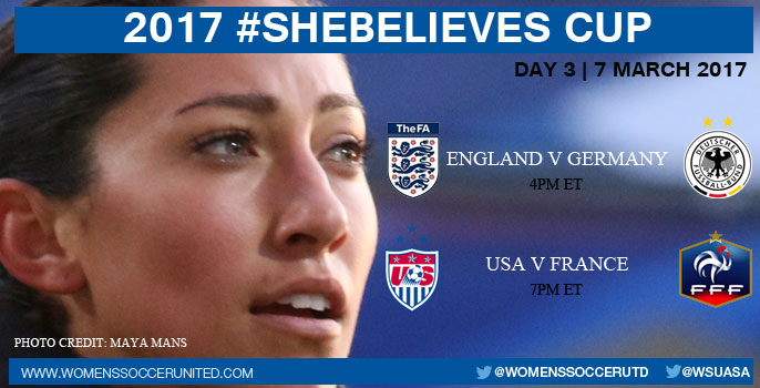 Day Three at the 2017 SheBelieves Cup