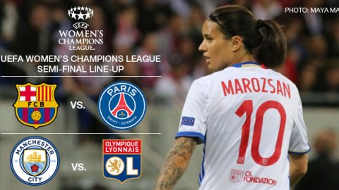 UEFA Women's Champions League 2016/17 Semi-final fixtures