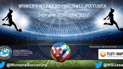 Women's Weekend Football Fixtures 24th and 25th June 2017