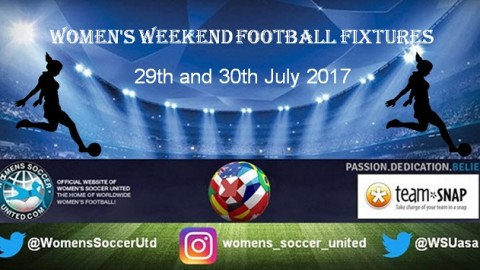 Women's Weekend Football Fixtures 29th and 30th July 2017