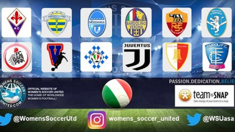 Italy Serie A Femminile Opening week's Fixtures 30th September