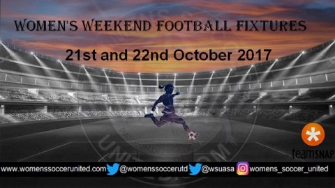 Women's Weekend Football Fixtures 21st and 22nd October 2017