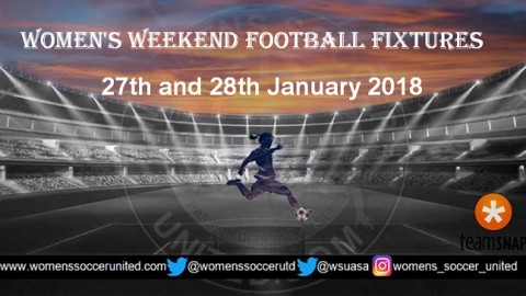 Women's Weekend Football Fixtures 27th and 28th January 2018