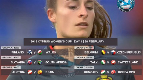 Cyprus Women's Cup 2018 | Day One, Group stage