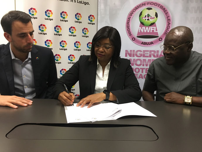 LaLiga and Nigeria Women's Football League sign agreement