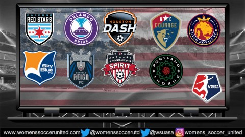 North Carolina Courage lead the National Women's Soccer League 4th August 2019
