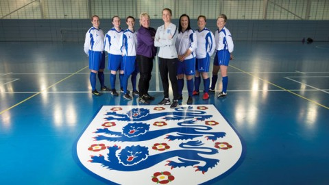 Nottingham Vets given surprise training session led by England Coach Casey Stoney