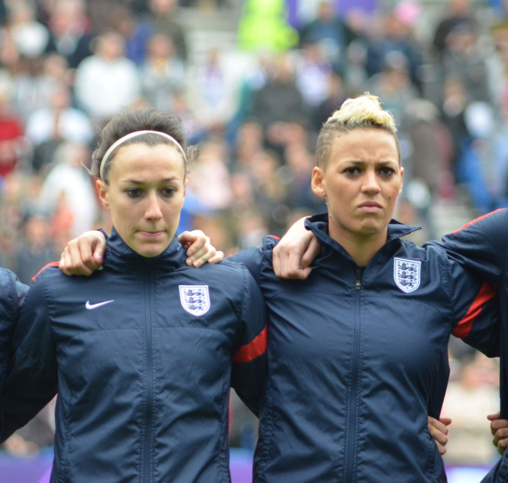 Lianne Sanderson and Lucy Bronze