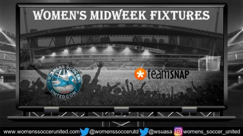 Women's Midweek Football Fixtures 30th July to 3rd August 2018