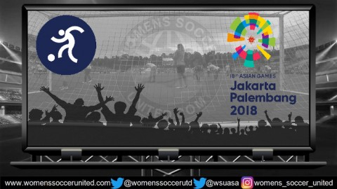 Asian Games 2018 Women's Football Tournament Match Fixtures