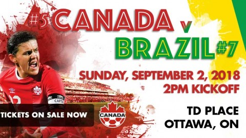 Canada announces roster for International Friendly against Brazil 2 September in Ottawa