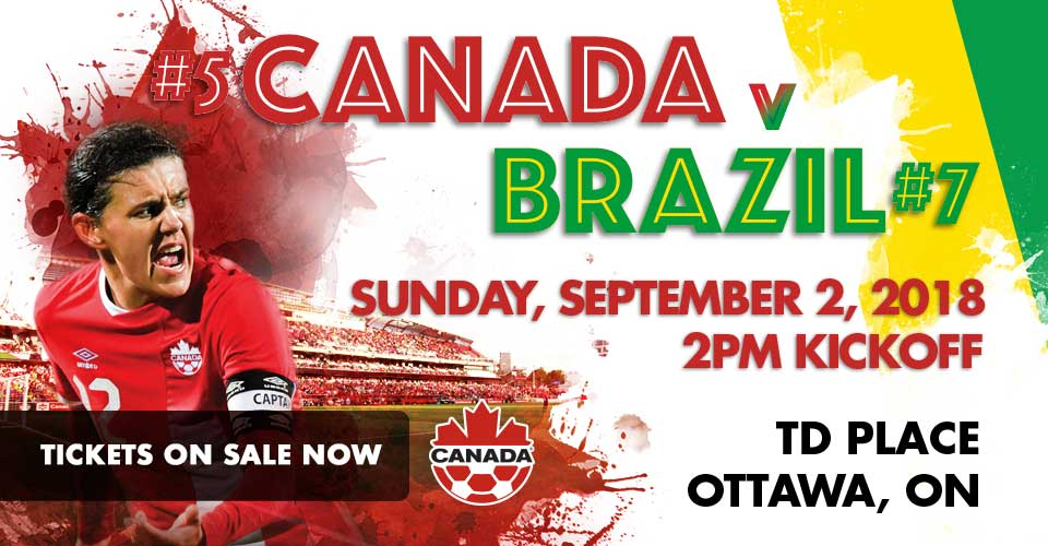 Canada v Brazil International women's football friendly