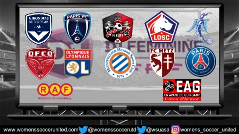 Olympique Lyonnais lead the D1 Féminine 9th September 2018