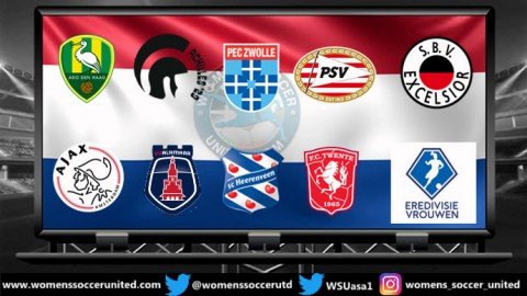 PSV Eindhoven lead the Netherlands Women's Eredivisie 1st October 2018