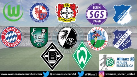 VfL Wolfsburg lead the Alliance Women's Bundesliga 27th November 2018
