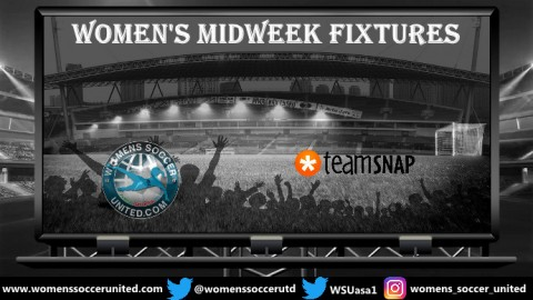 Women's Midweek Football Fixtures 10th to 14th September 2018