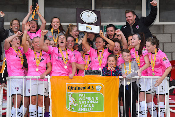 Wexford Youths lift Continental Tyres WNL Shield after shoot-out victory