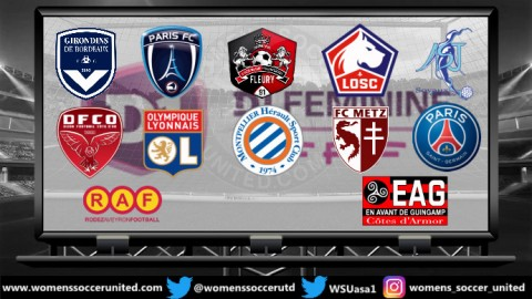 Olympique Lyonnais lead the D1 Féminine 13th January 2019