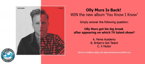 Olly Murs Is Back! WIN the new album 'You Know I Know'
