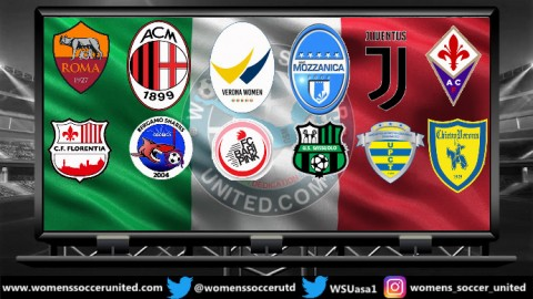 Juventus FC Lead Italy Serie A Femminile 13th January 2019