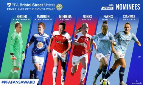 Nominees for PFA Fans' Player of the Month announced for October