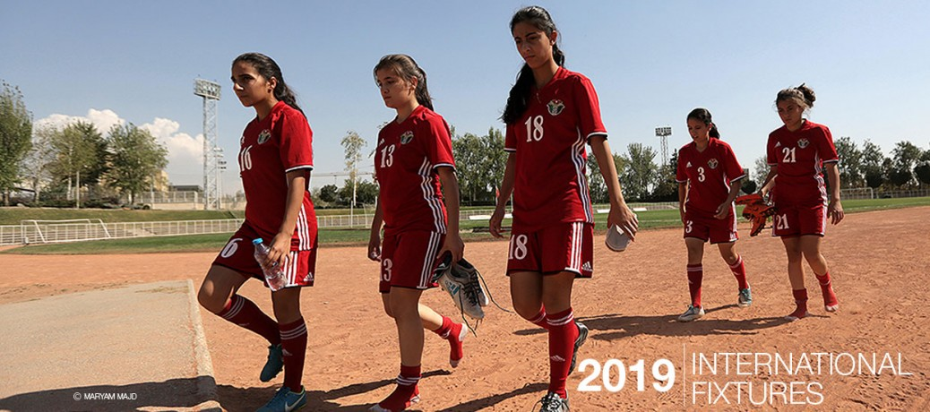 International women's football fixtures 2019