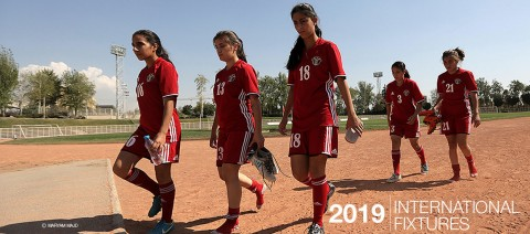 International women's football fixtures 2019 and live broadcast information