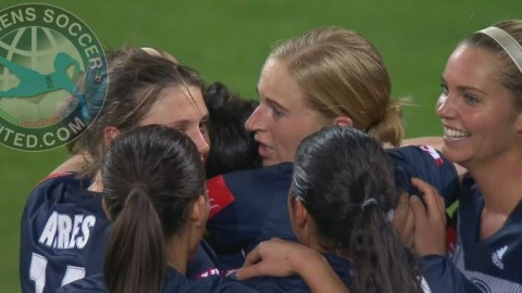 Melbourne Victory lead the Westfield W-League 2nd December 2018
