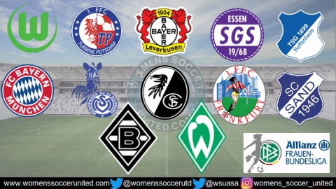 VfL Wolfsburg lead the Alliance Women's Bundesliga 16th December 2018
