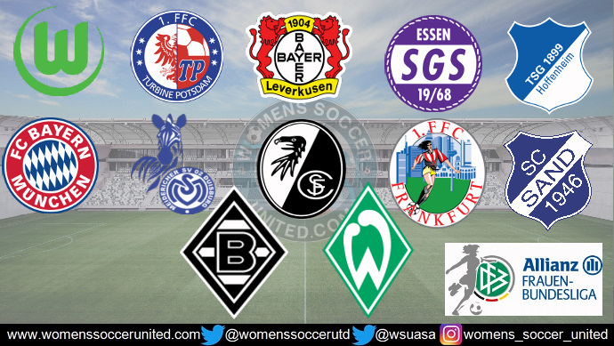 vfl wolfsburg lead the alliance women s bundesliga 16th december 2018 womens soccer united womens soccer united
